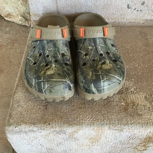 db0adfe4f86365 Camo Crocks Camo Crocks women s size 10 Men s size 8. crocs Shoes Sandals