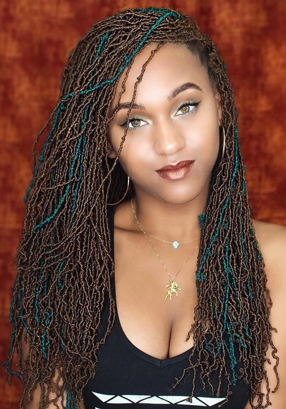 Micro Crochet Locs Hot Hair Micro Braids Hairstyles Braided
