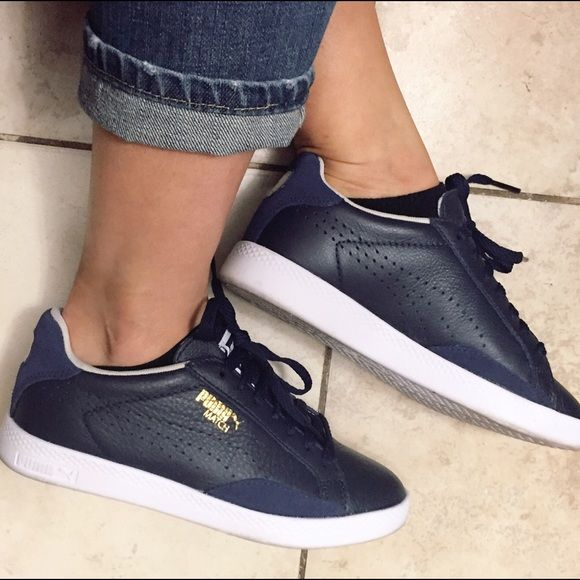 PUMA leather sneakers Adorable navy blue 41aa0f5a3