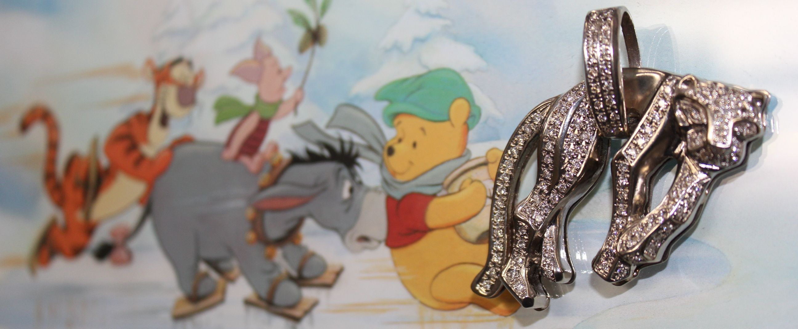 #Panther #Pendant #Playing With #Winnie The Pooh #Jewelry #Pendant #Dynasty #Loan