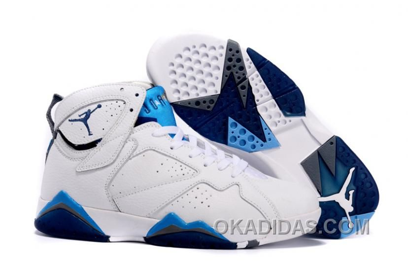 Air Jordan Shoes Air Jordan Retro 7 white blue [Air Jordans retro 7 shoes -  This black and grey air jordan retro 7 is comfortable and good-looking with  ...