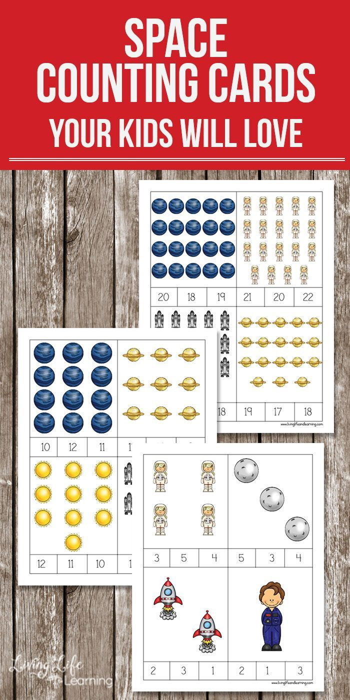 Space Counting Cards Printables Space Activities For Kids Space Preschool Counting Activities Preschool [ 1400 x 700 Pixel ]
