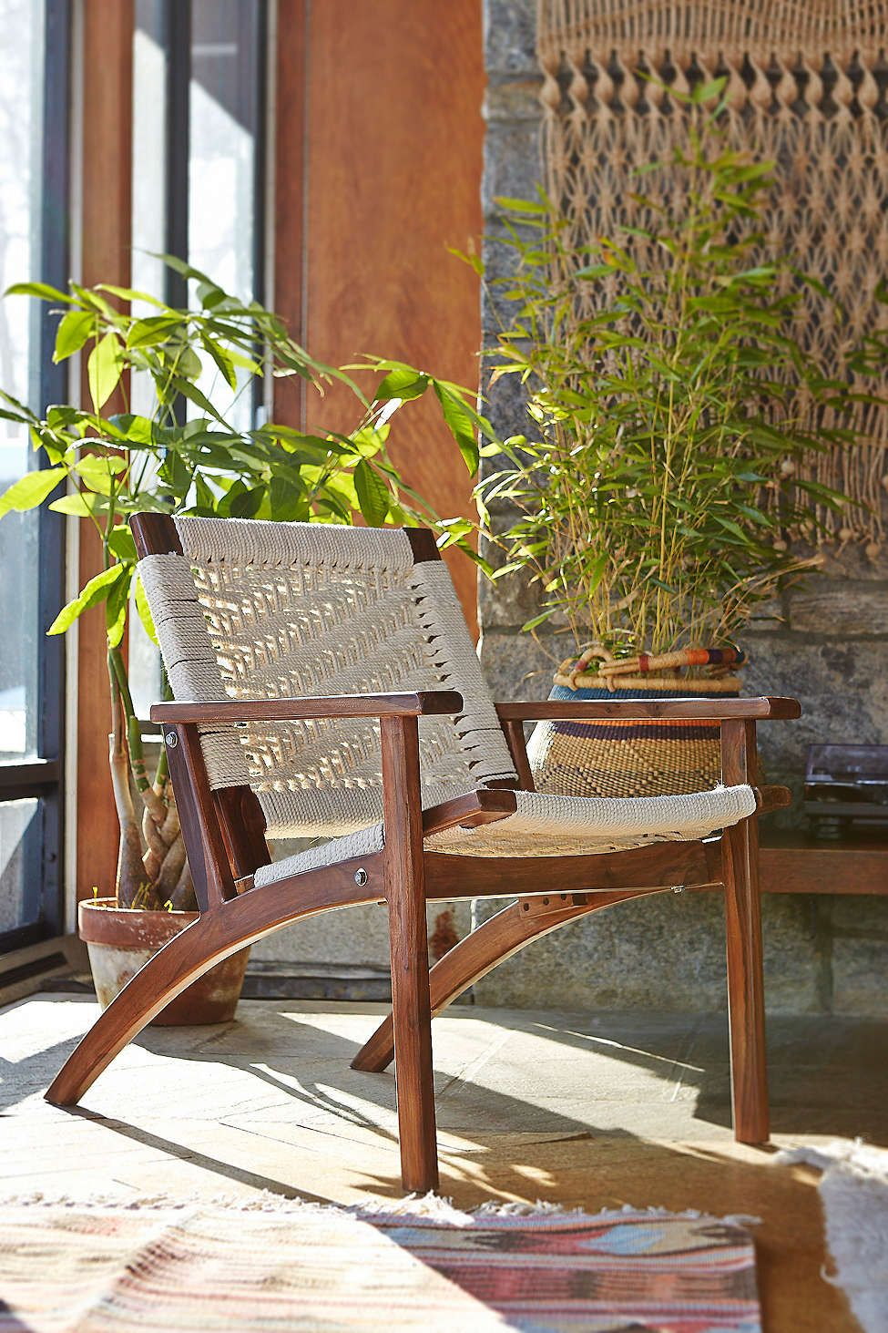 Woven Lounge Chair For The Home Apartment Furniture