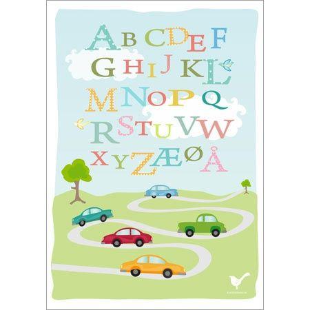 alfabet plakat dansk gratis