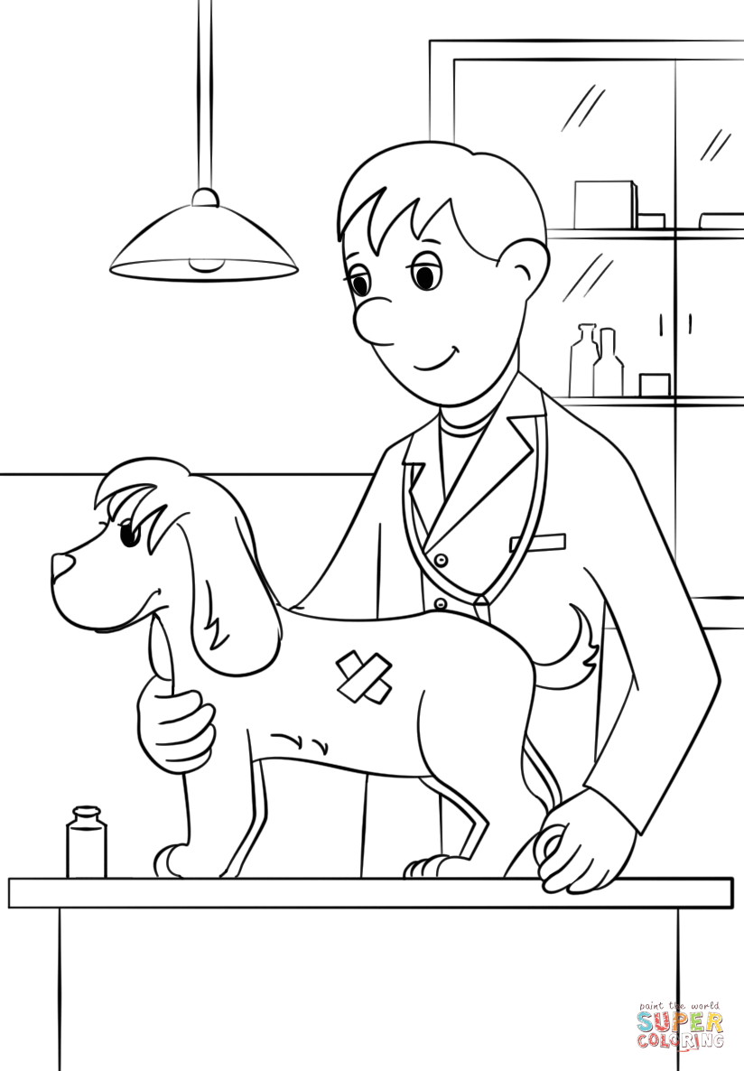 90 Coloring Page Veterinarian Pet Care Coloring Book Veterinarian Pages For Coloring Pages Turtle Coloring Pages Bunny Coloring Pages