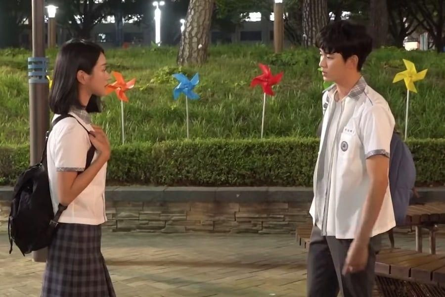 "Watch: Kim Soo Hyun And Seo Ye Ji Have Fun Wearing School Uniforms In ""It's Okay To Not Be Okay"""
