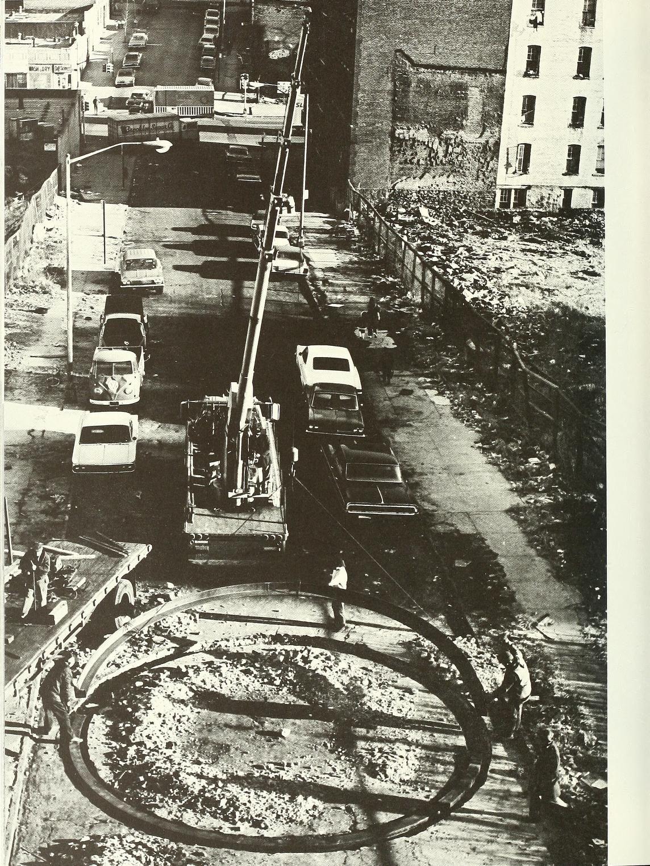 Richard Serra Installation Of Encircle Base Plate