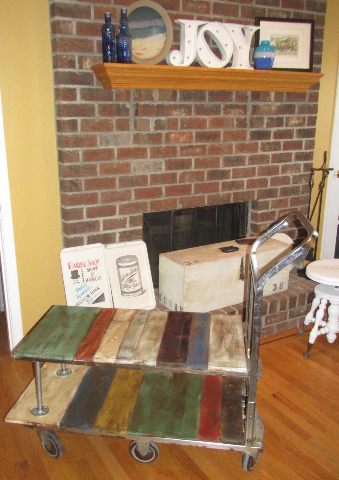 antique shops rochester ny Antique Vintage Factory Warehouse Cart Dolley Coffee Table  antique shops rochester ny