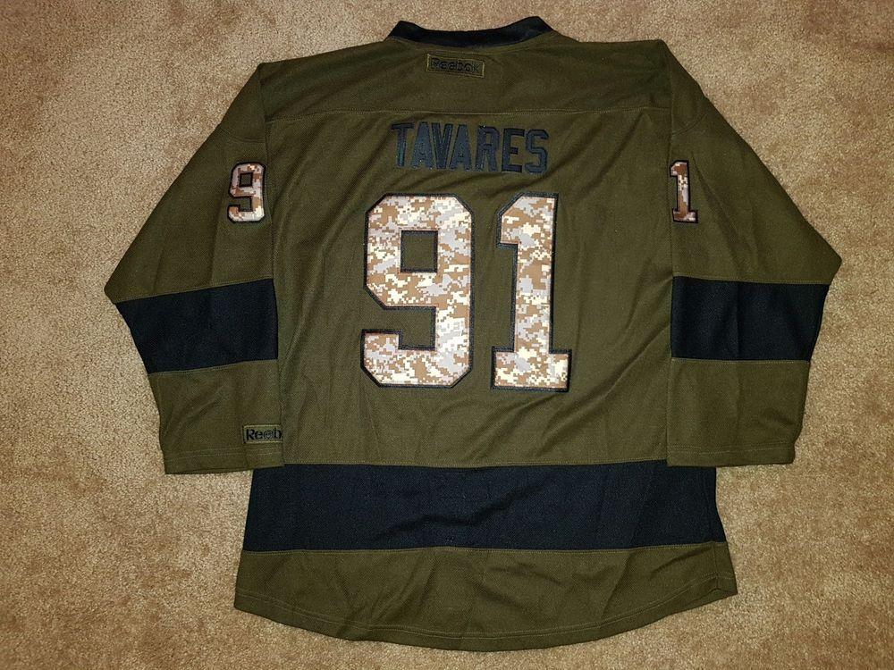 brand new a202d 1dbdc John Tavares NY Islanders Military Salute Camo NHL Reebok ...