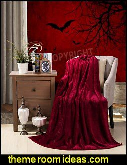 GOTHIC BEDROOMS red blanket gothic wall murals Gothic Pinterest