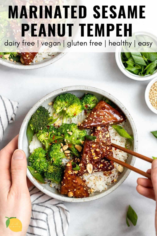 Sesame Tempeh Bowls Vegan Meal Prep Budget Bytes Recipe Vegan Meal Prep Vegan Dinners Healthy Recipes