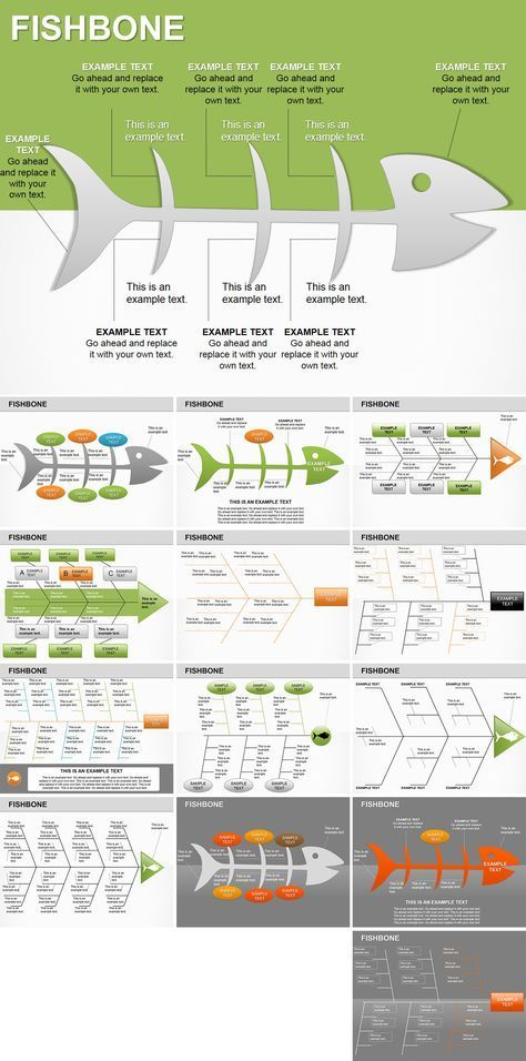 Fishbone PowerPoint diagrams Diagram, Template and Business planning