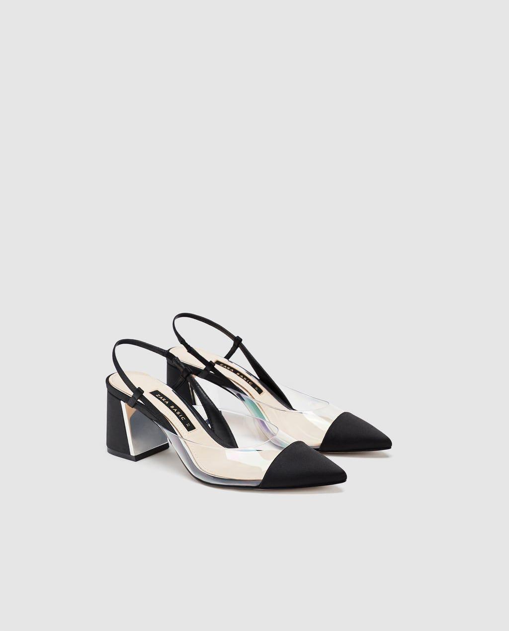 ZAPATO TACÓN DESTALONADO VINILO | Zara mujer zapatos