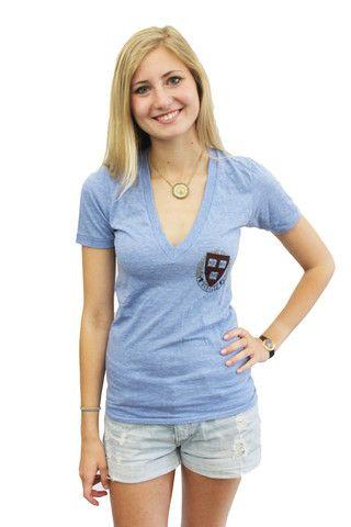 d89946094 Harvard American Apparel Women's Crest V-Neck   Harvard Women's ...