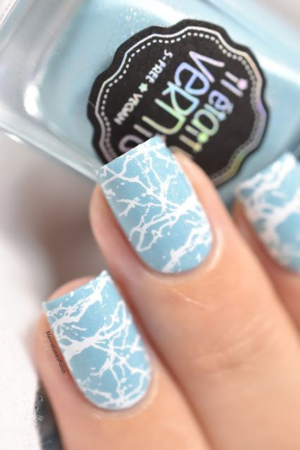 Marine Loves Polish: Splash! - IEUV To the rainbow and back - Sugar Bubbles SB047 - stamping - water effect - marble