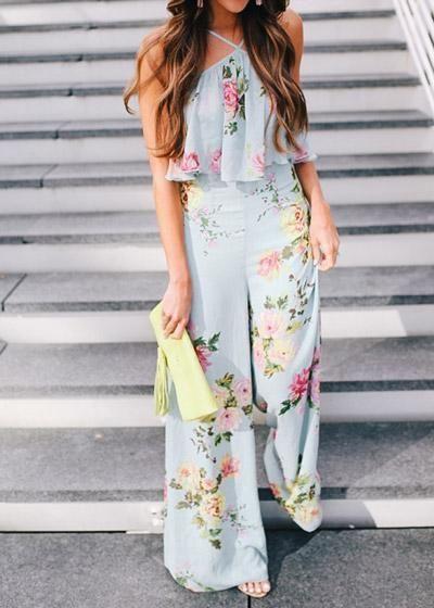a2ee8249e Macacão Floral Longo com Babado | Vestidos | Vestidos, Vestidos ...
