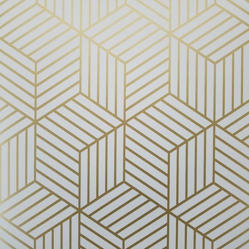 Geometric Gold Hexagon Peel And Stick Mid Century Modern Wallpaper Mid Century Modern Wallpaper Modern Wallpaper Modern Wallpaper Accent Wall