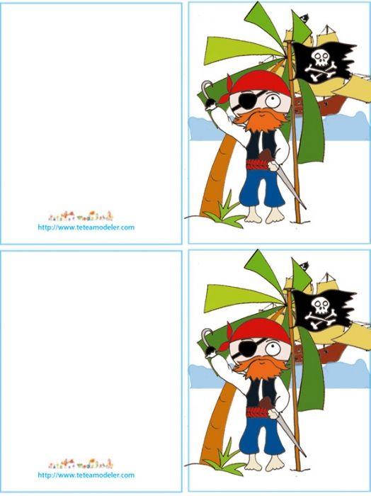 Imprimer La Carte D Anniversaire Pirate Au Crochet Tete A