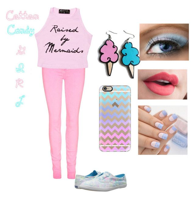 """""""Cotton candy girl"""" by xfangirllife on Polyvore featuring Junk Food Clothing, Casetify and Keds"""