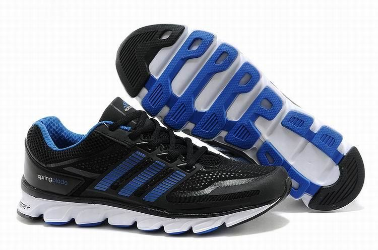 Womens Adidas Springblade Adiprene Running Shoes Black Blue White Trainers 69091bc9f8