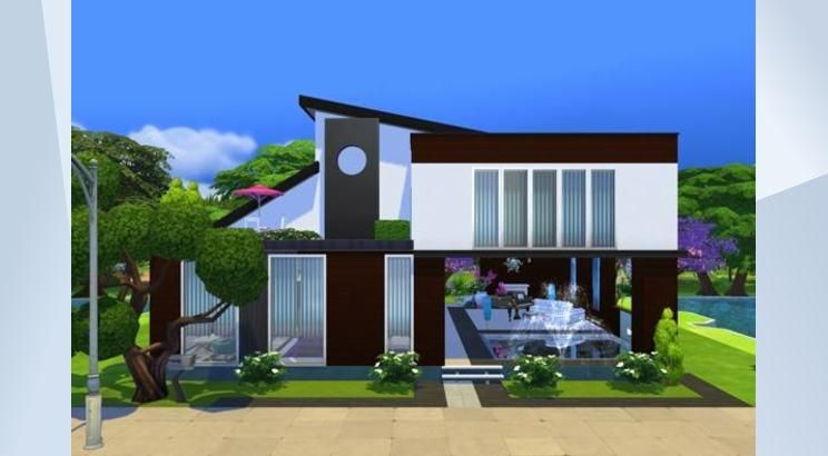 Nombre: Nephrite Base Game. ¡Mira este solar en la galería de Los Sims 4! - Thanks to one EA PL Guru who motivated me to create this hause :D  #noCC #basegame #modern #kreat #forumpl #Poland#playtested #family #avenue5 #createlifeinsims #cute #small #fishing #garden #vegetables #paintings and #photos thanks to my talented friend #jasna #holidays
