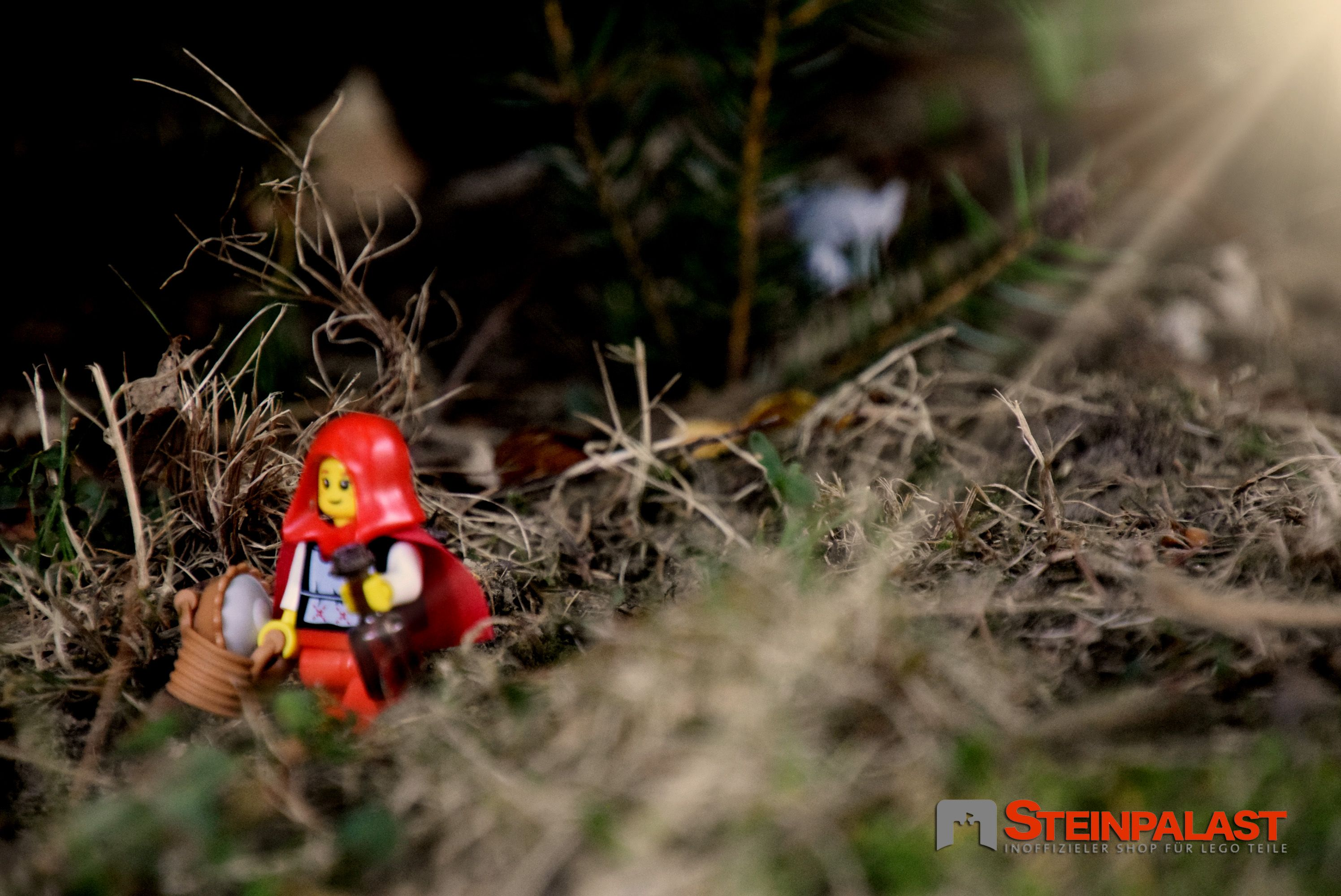 Lego Figuren Minifiguren ROTKÄPPCHEN Thema