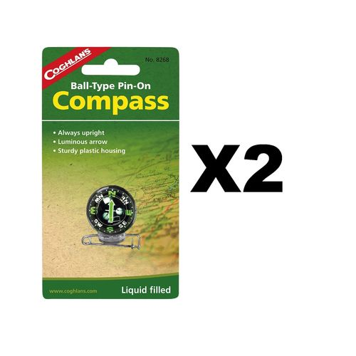 Coghlan's Pin-On Compass (2-Pack)