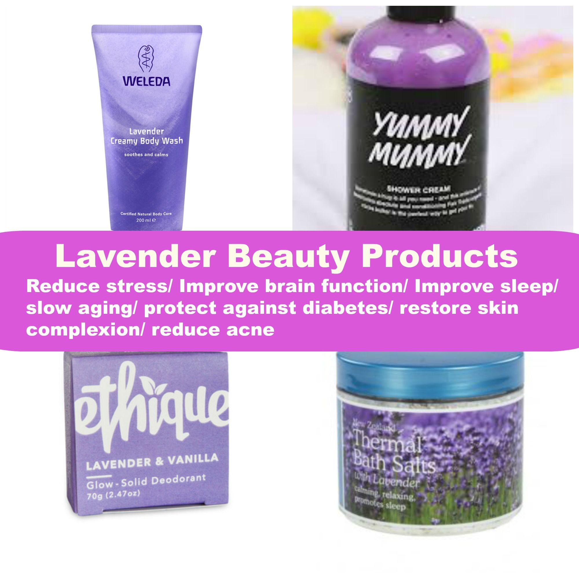 The benefits of lavender. Vegan beauty products in New