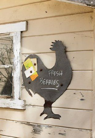 Amazon.com - Chalk & Magnet Rooster Board