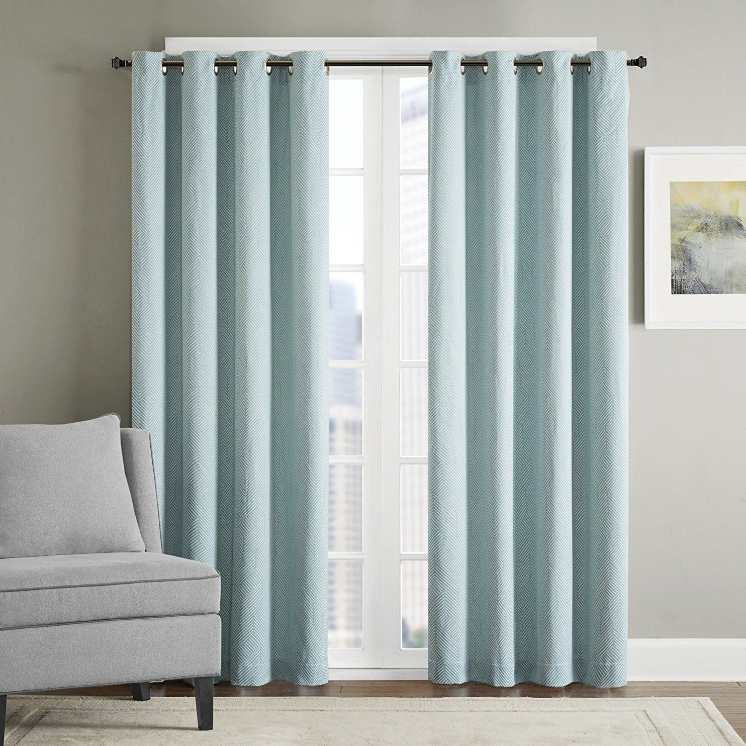 grommet panel color single maddie blackout curtain solid silk faux window pin