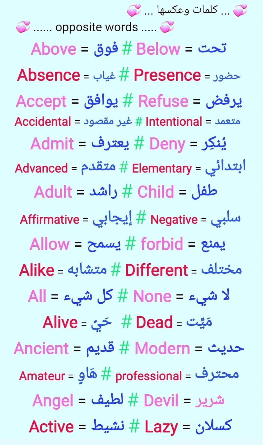 Arabic English Learnarabicforkids English Language Learning Grammar Learn English Vocabulary Learn Arabic Language