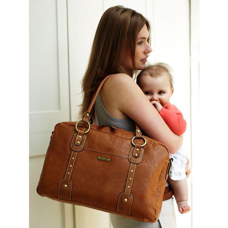 Storksak Elizabeth Changing Bag, Natural  £195