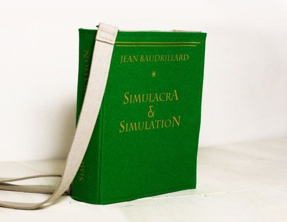 226a4d055c1cd Matrix Inspired Book Bag Simulacra And Simulation by krukrustudio ...
