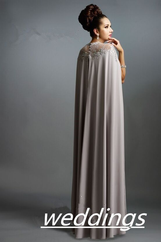 Long muslim prom dresses real image evening gowns grey prom dress ...