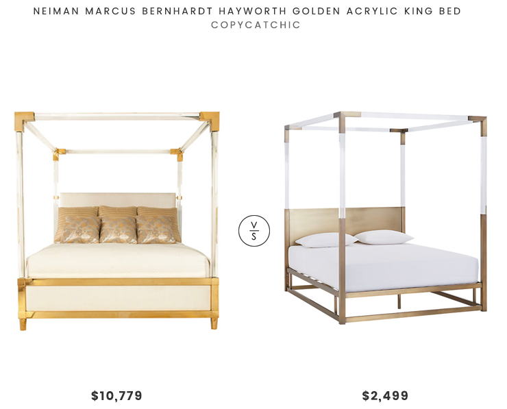 Neiman Marcus Bernhardt Hayworth Golden Acrylic King Bed