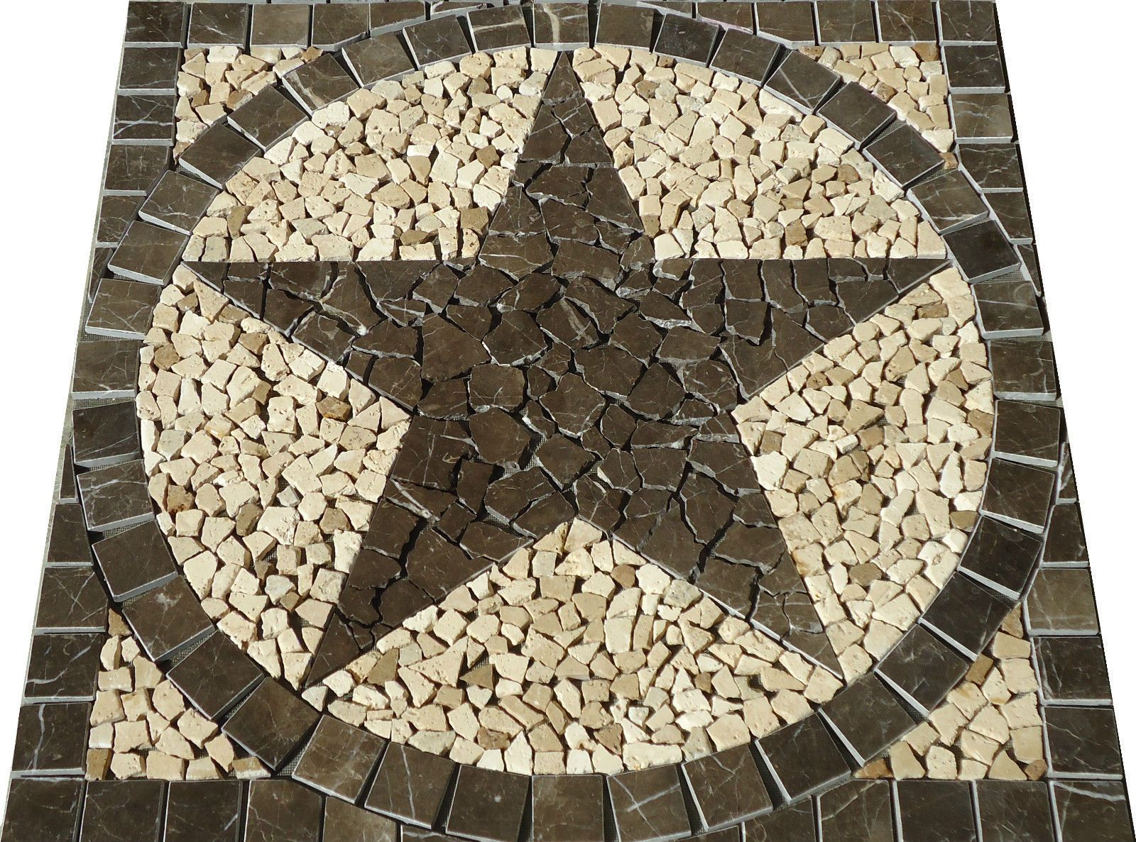 mosaic marble medallion tile floor wall backsplash pattern art ebay