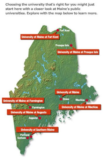 Map Of Universities University Of Maine Pinterest University