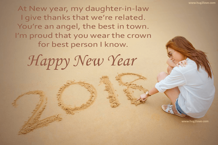 daughter in law best new year 2018 wishes messages
