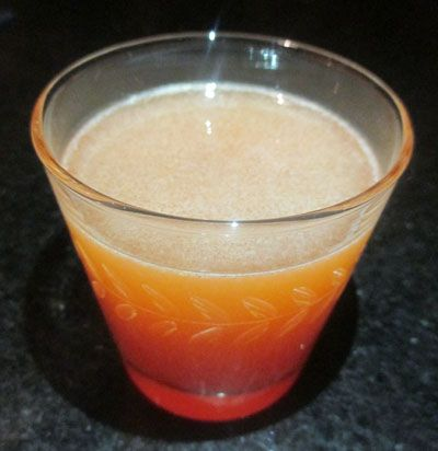 2 oz Bourbon (Old Granddad Bonded) 1 1/2 oz Orange Juice 1/2 oz
