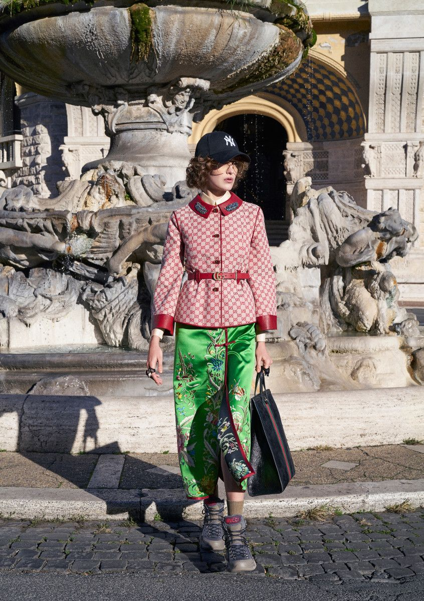 482da369fc9 A look from the Gucci Pre-Fall 2018 collection. Photo  Peter Schlesinger