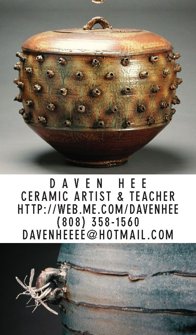 Business card for Daven Hee, a ceramic artist and teacher in ...