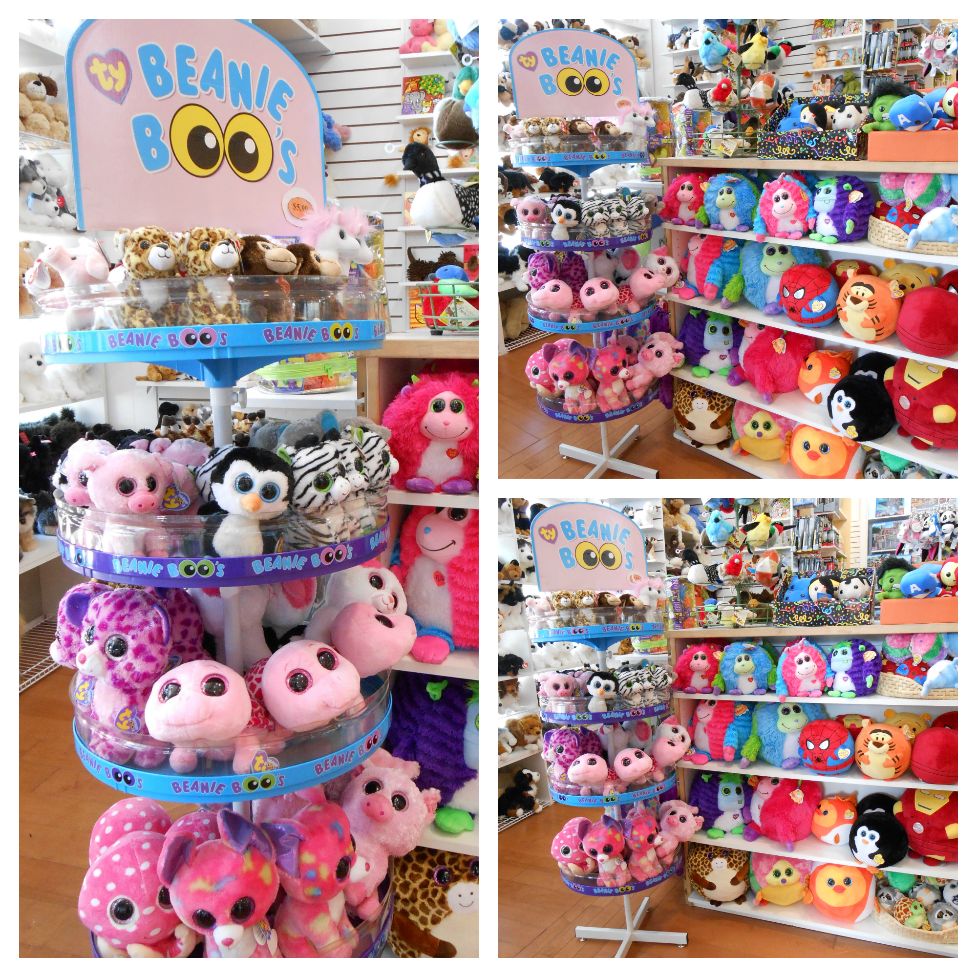 This just in! A new shipment of TY BEANIE BOOS! How cute are they?! *Available at all locations!