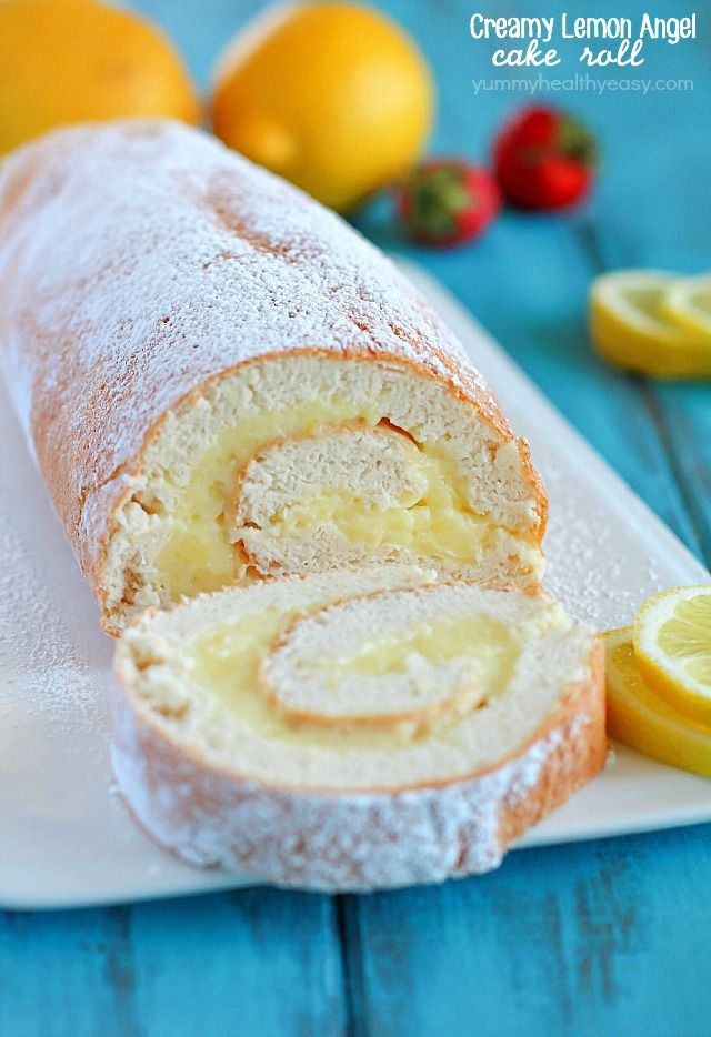 A light angel cake roll filled with a creamy lemon filling it a light angel cake roll filled with a creamy lemon filling it makes an impressive forumfinder Choice Image