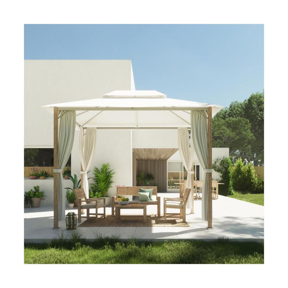 Komplet Mebli Ogrodowych Solis Naterial Meble Wypoczynkowe Do Ogrodu W Atrakcyjnej Cenie W Sklepach Leroy Merlin Gazebo Outdoor Decor Outdoor Furniture