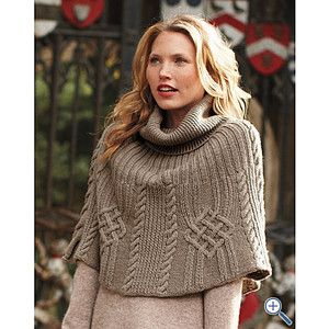 Cabled Sweater Capelet - Garnet Hill - Polyvore