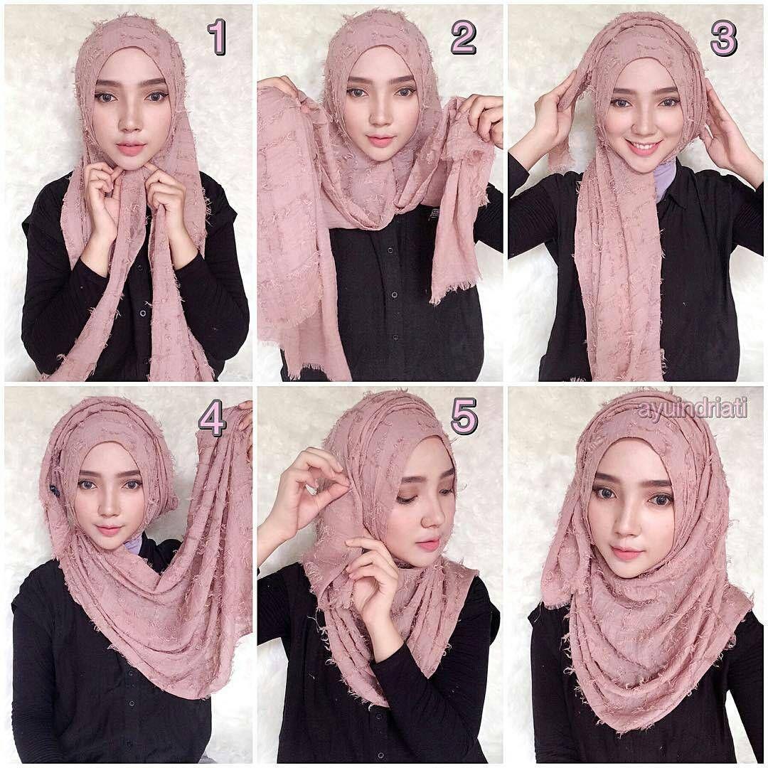 25 Tutorial Hijab Pesta Simple Segi Empat Elegan Syar I