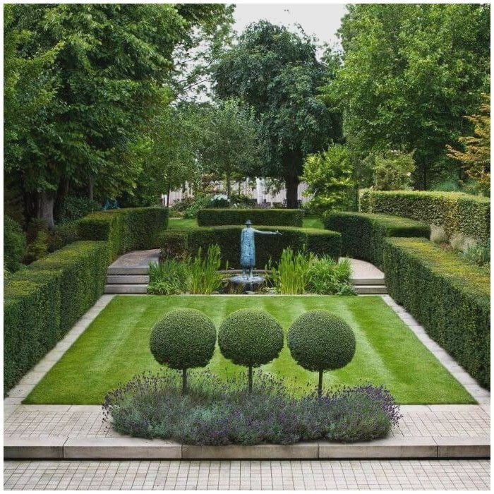Formal Garden Design Idea: Image Result For Hornbeams Line Backyard