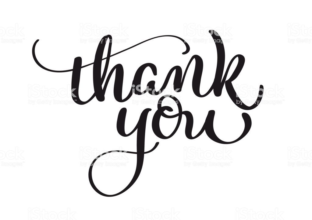 Royalty Free Thank You Note Clip Vector Images Thank You Font Lettering Calligraphy Thank You