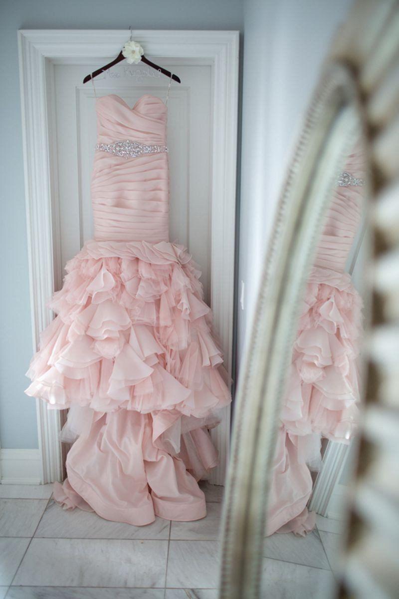 Sweetheart organza ruffles mermaid wedding dresses in