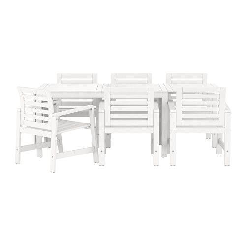 """""""PPLAR– Tisch 6 Armlehnstühle außen IKEA Porch"""